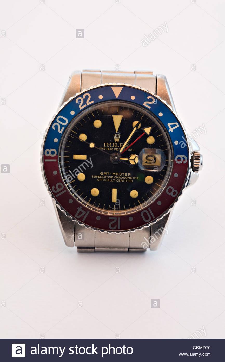 29b3d6a9469e31 Close-up di uomo di Rolex Oyster Perpetual GMT orologio da polso Immagini  Stock