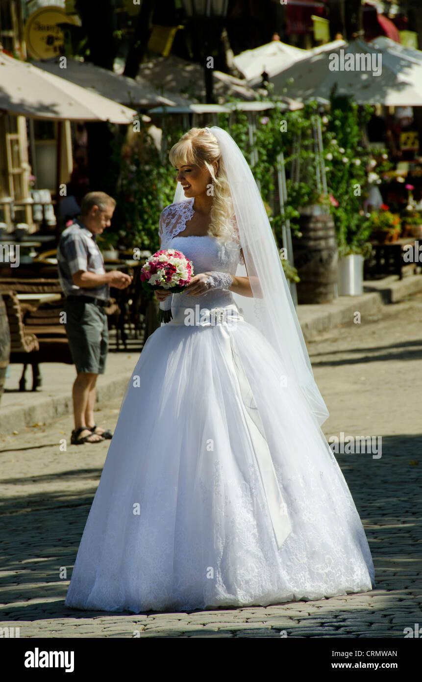 Vestito Da Sposa Western.Ucraina Odessa Tipico Sposa Ucraino In Stile Western White Abito