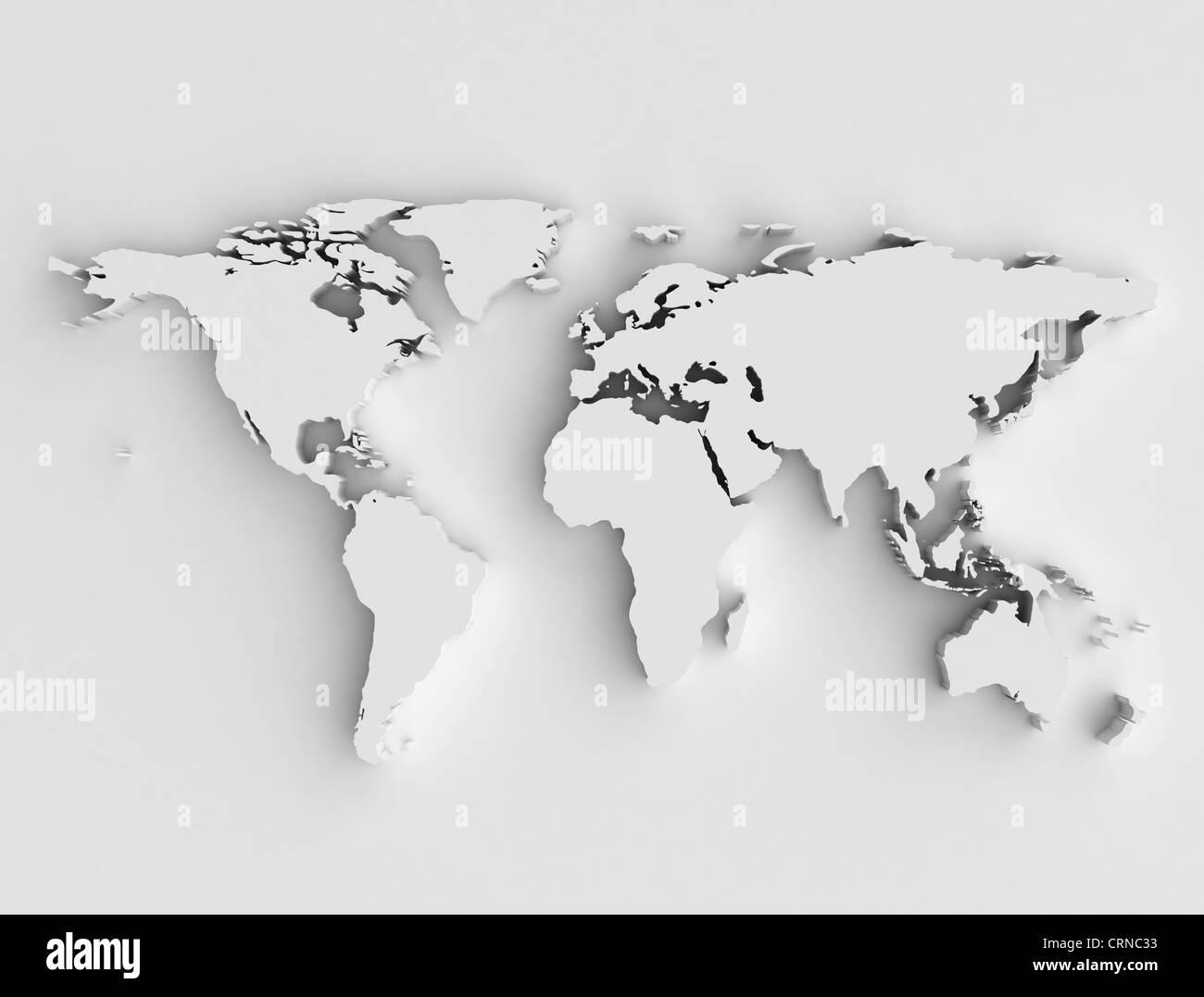 Cartina Mondo Alta Risoluzione.Mappa Mondo 3d Ad Alta Risoluzione Foto Stock Alamy