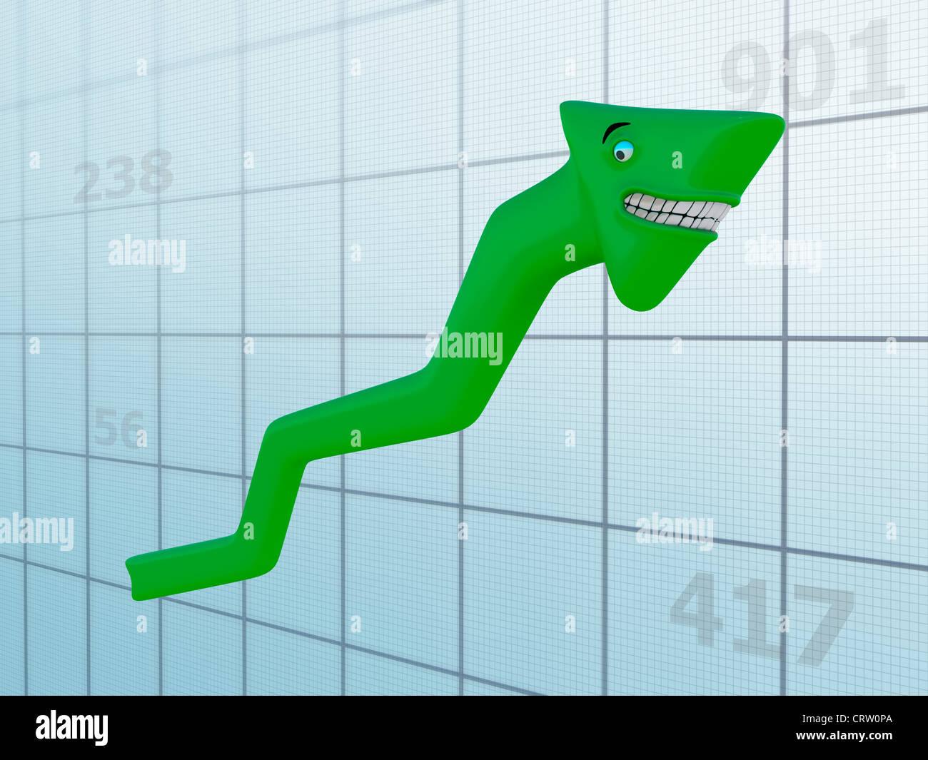 Grafico felice Immagini Stock