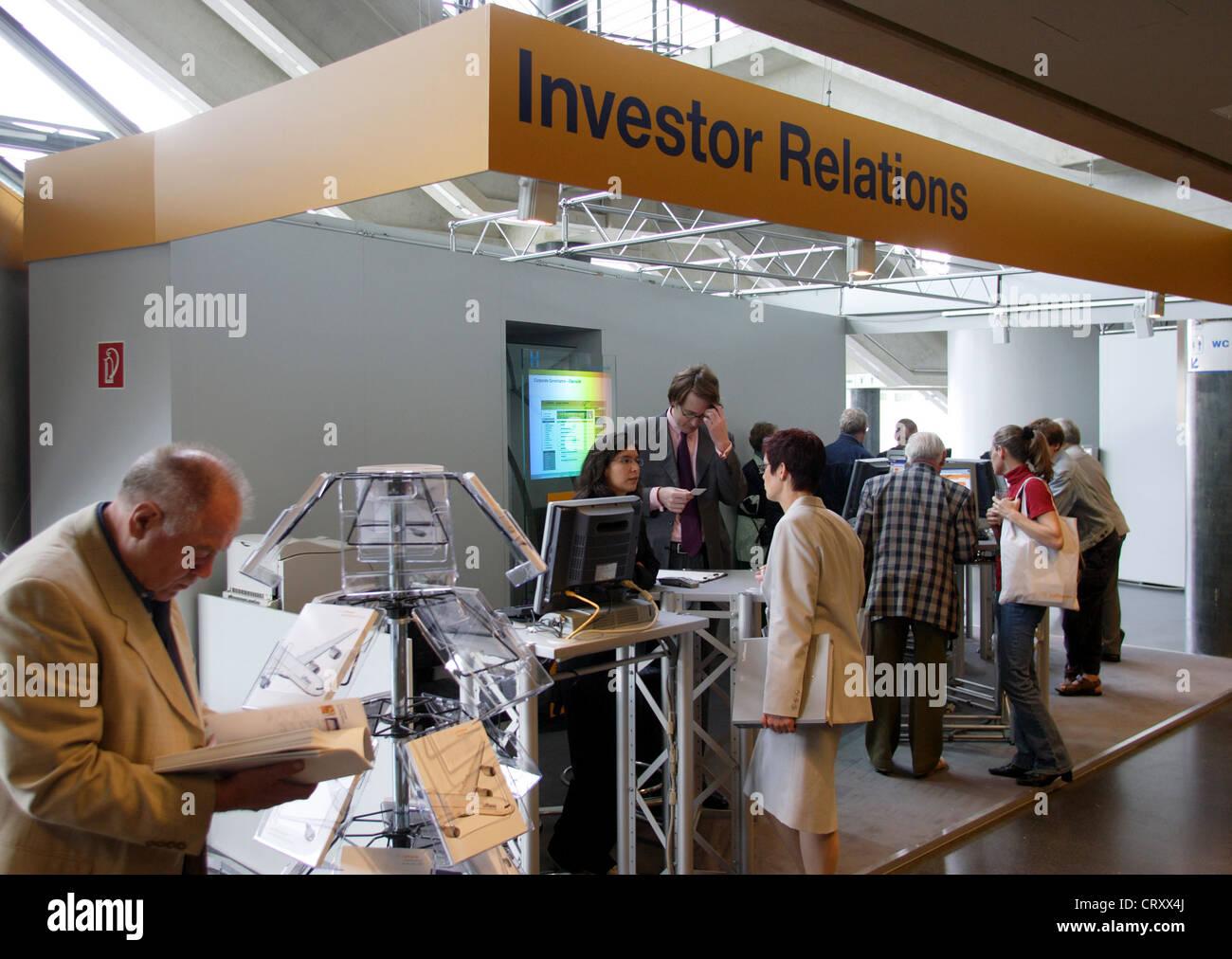 Relazioni con gli investitori, incontro di Deutsche Lufthansa AG Immagini Stock