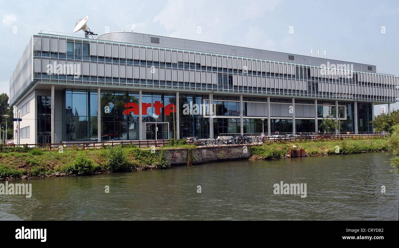 La sede centrale del canale televisivo ARTE a Strasburgo Immagini Stock