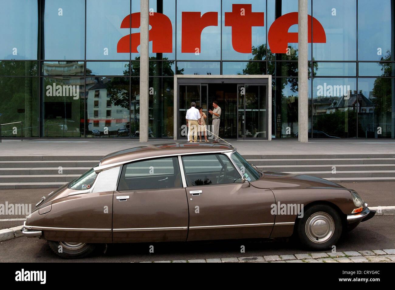 La sede centrale del canale ARTE a Strasburgo Immagini Stock