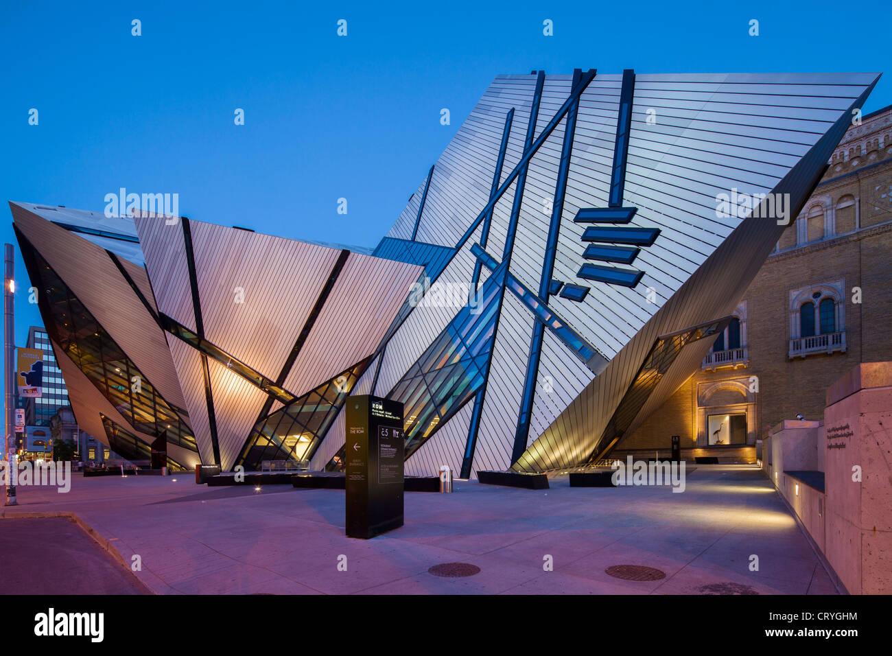 Il Royal Ontario Museum, Cristallo, Toronto Immagini Stock