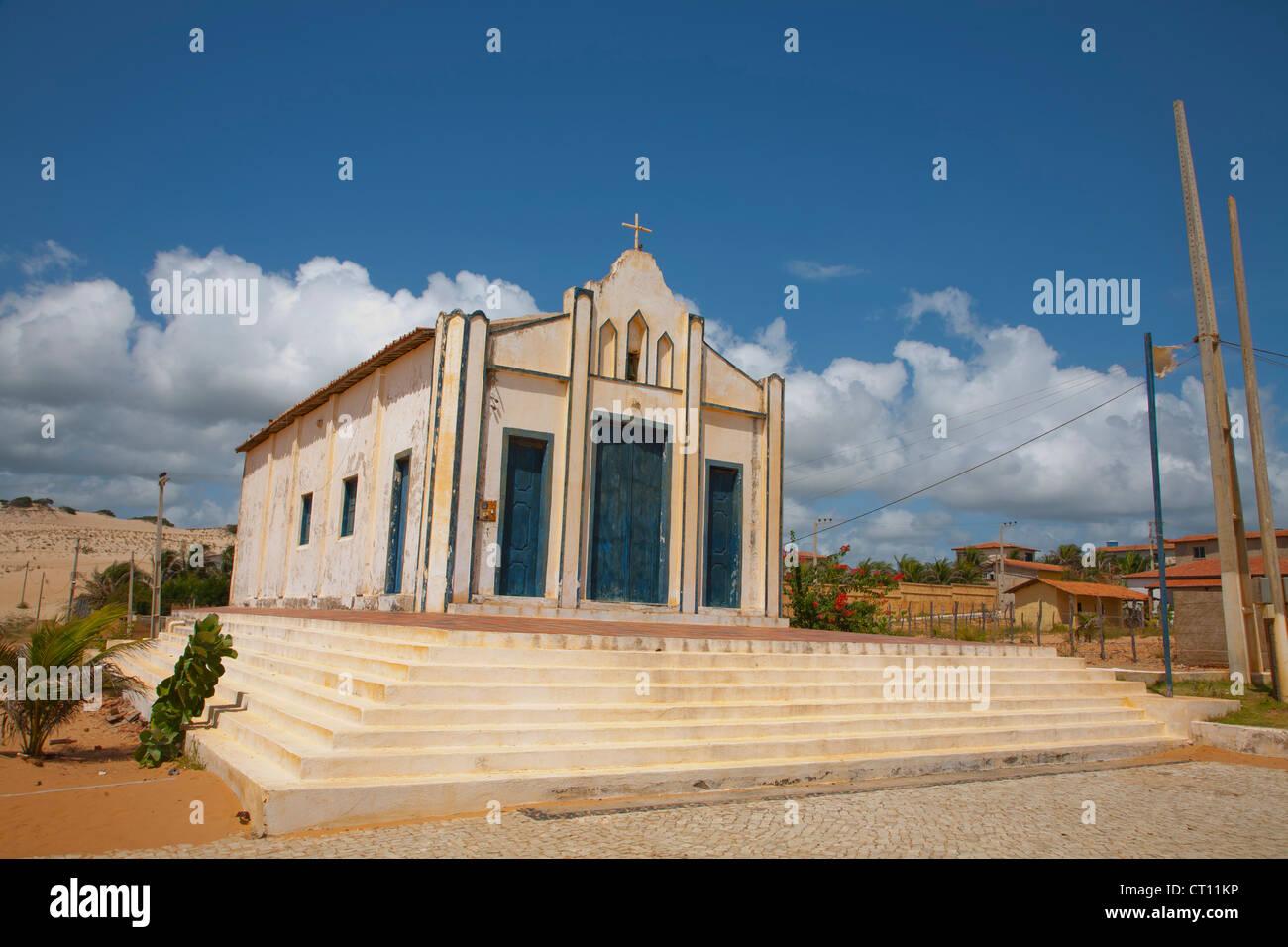 Chiesa nel deserto città Immagini Stock