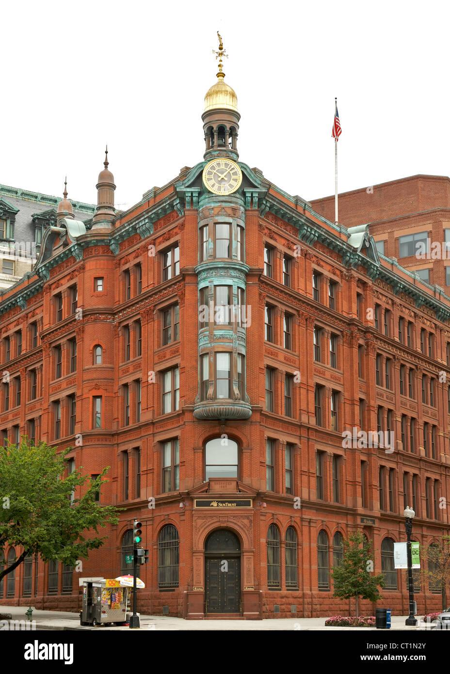 Il risparmio nazionale e Trust Company building a Washington DC, Stati Uniti d'America. Immagini Stock