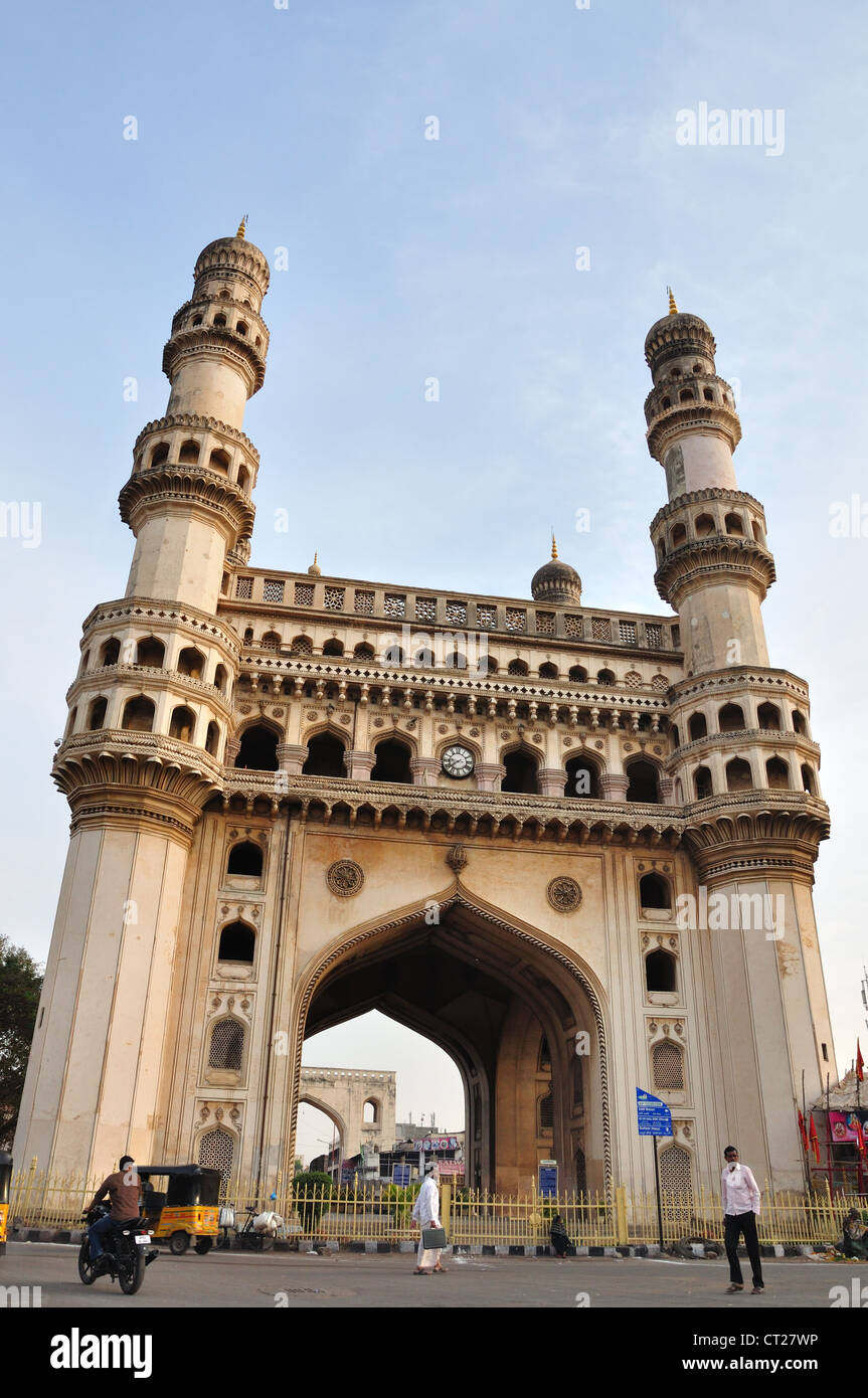 Charminar, landmark monumento in Hyderabad, India Immagini Stock
