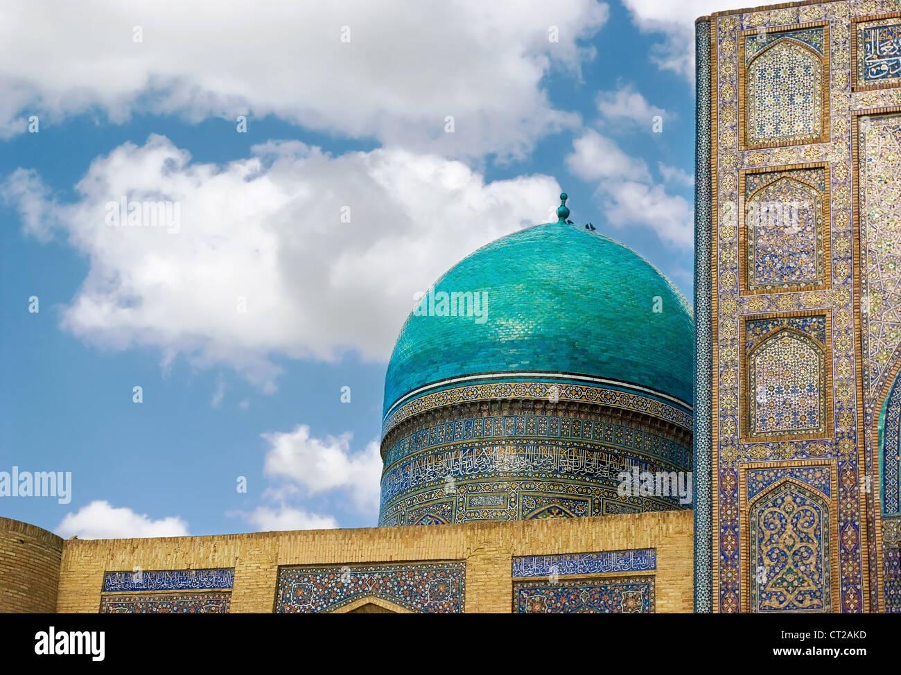 Dettaglio della tradizionale architettura di Uzbekistan Immagini Stock