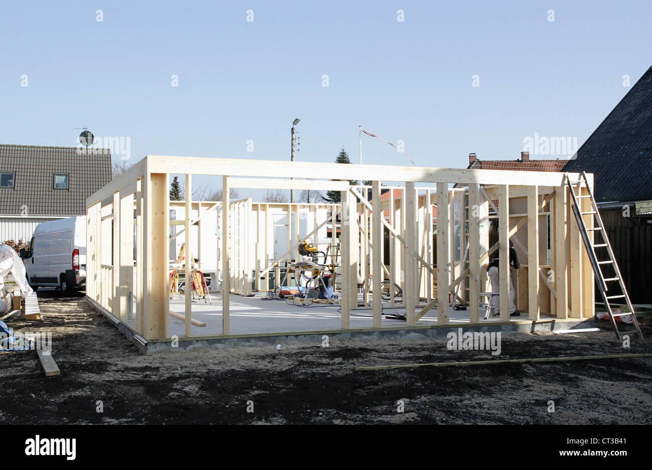 Nuova struttura sul sito in costruzione Immagini Stock