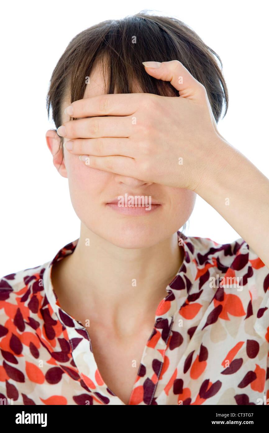 Concetto di cecità Immagini Stock