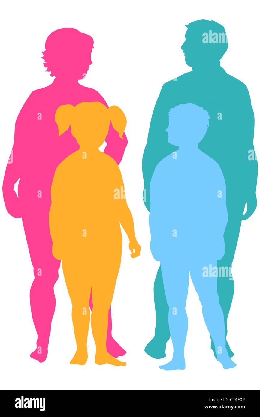 Obesità, illustrazione Immagini Stock