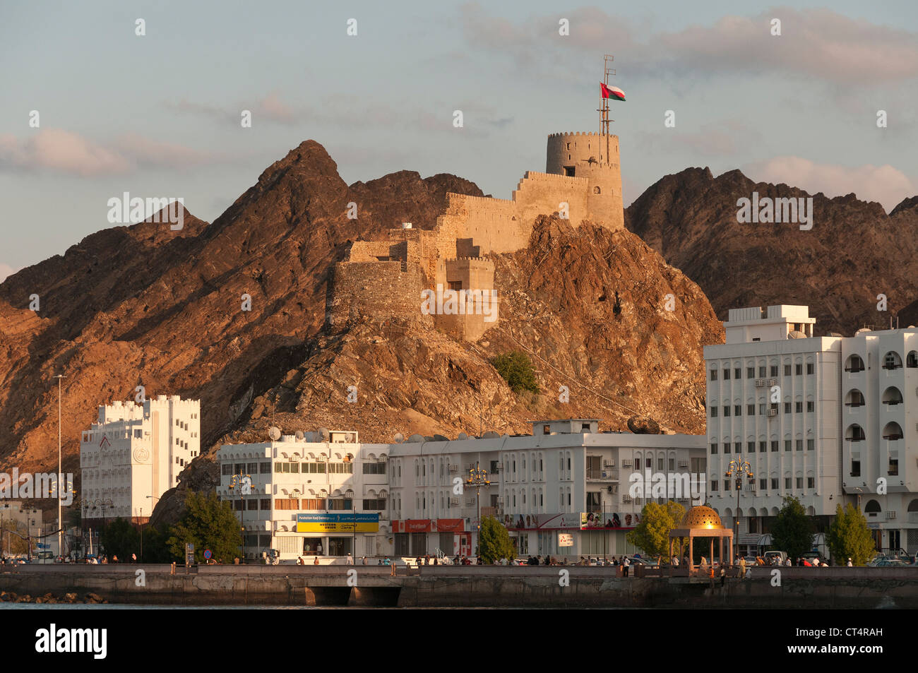 Elk207-1117 Oman, Muscat Muttrah, Corniche Immagini Stock