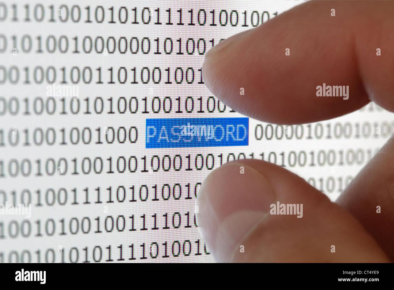 Password di sicurezza Foto Stock