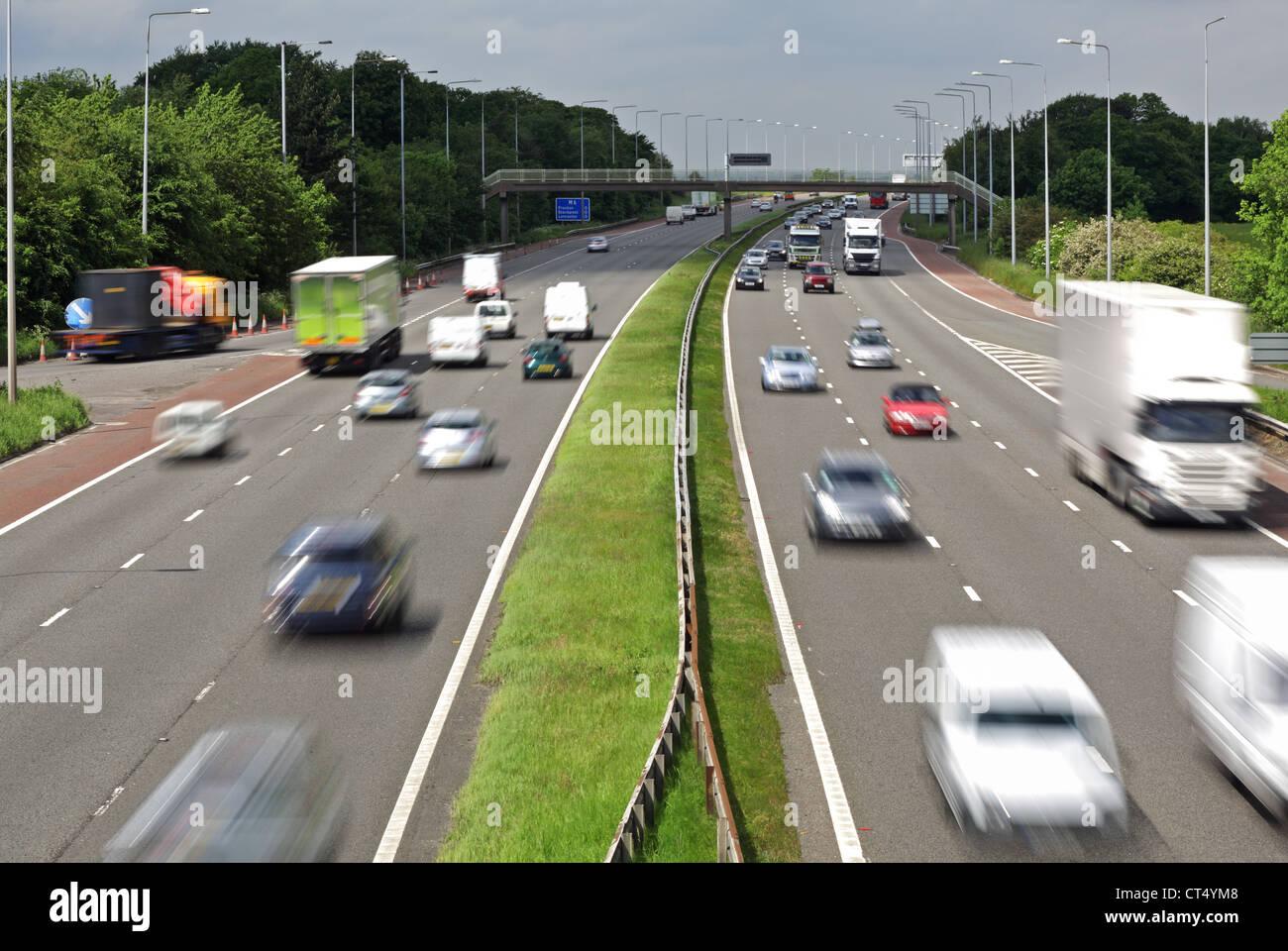 Traffico Autostradale Immagini Stock