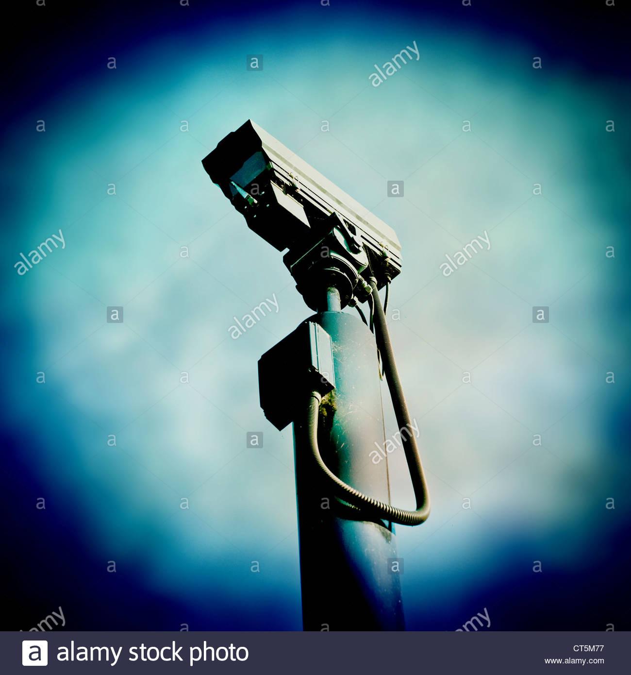 Telecamera di sorveglianza Immagini Stock