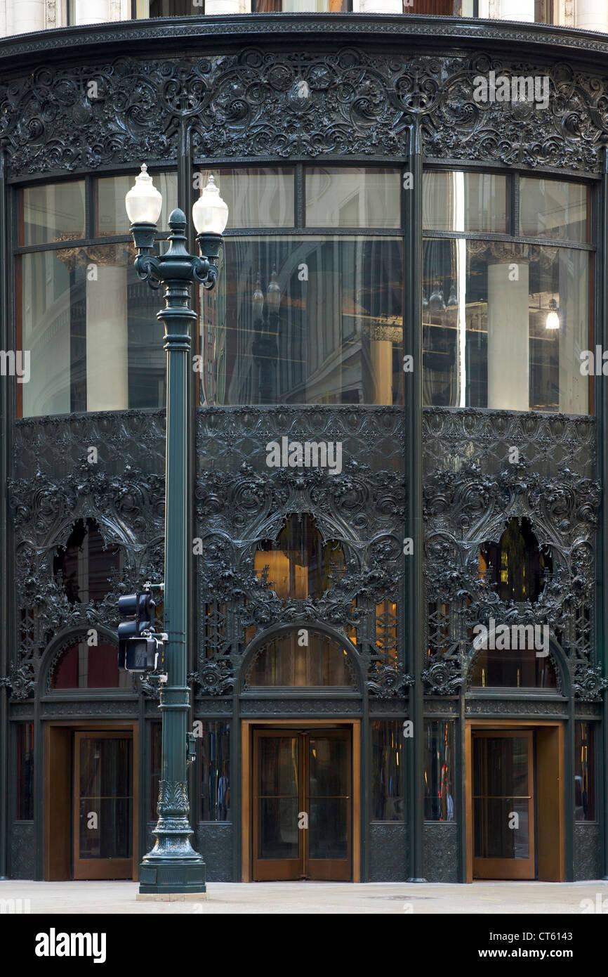 La Carson, Pirie Scott e costruzione della società a Chicago, Illinois, Stati Uniti d'America. Immagini Stock
