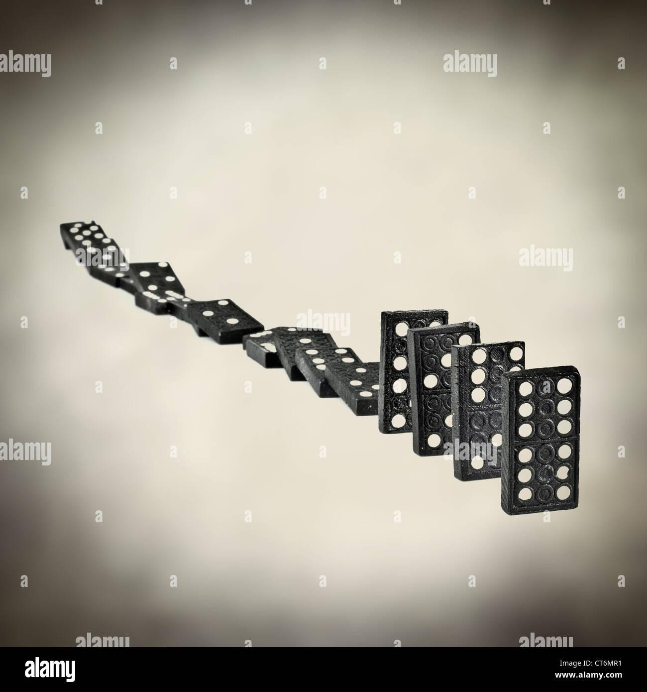 effetto domino Immagini Stock