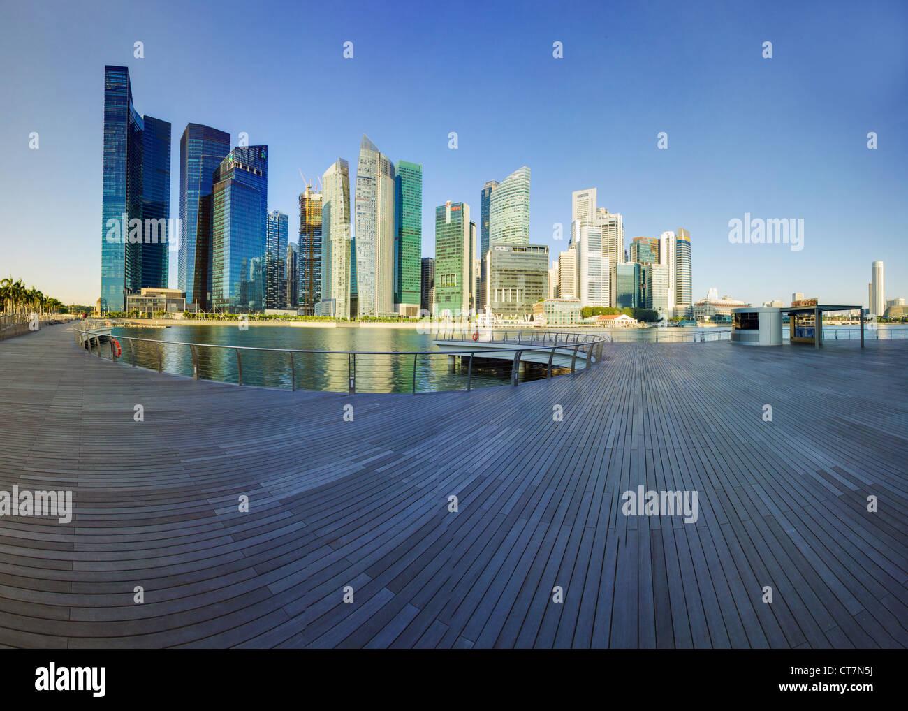 Il Sud Est asiatico, Singapore, centro finanziario e Marina Bay Immagini Stock