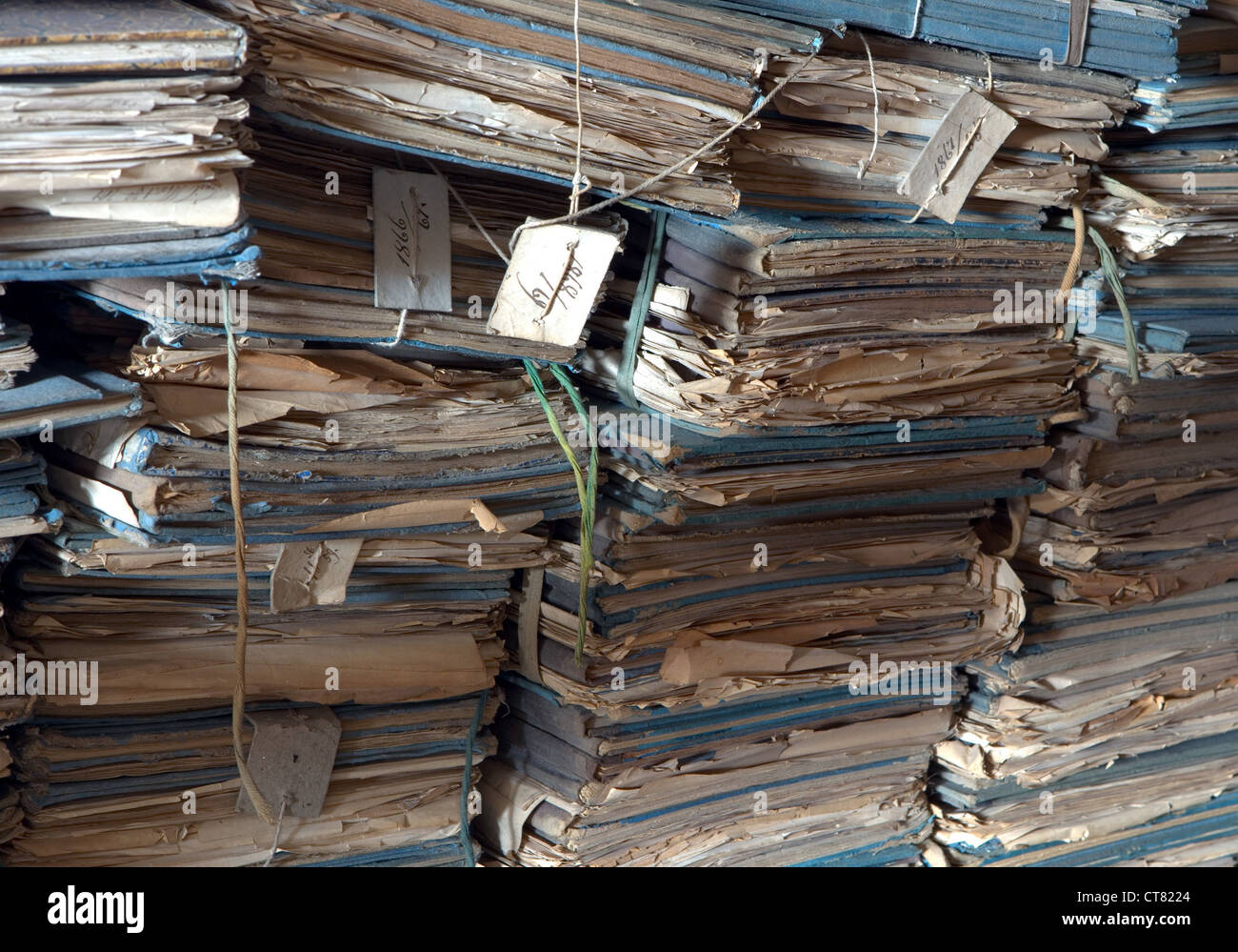 Archiviare i file vecchi Immagini Stock