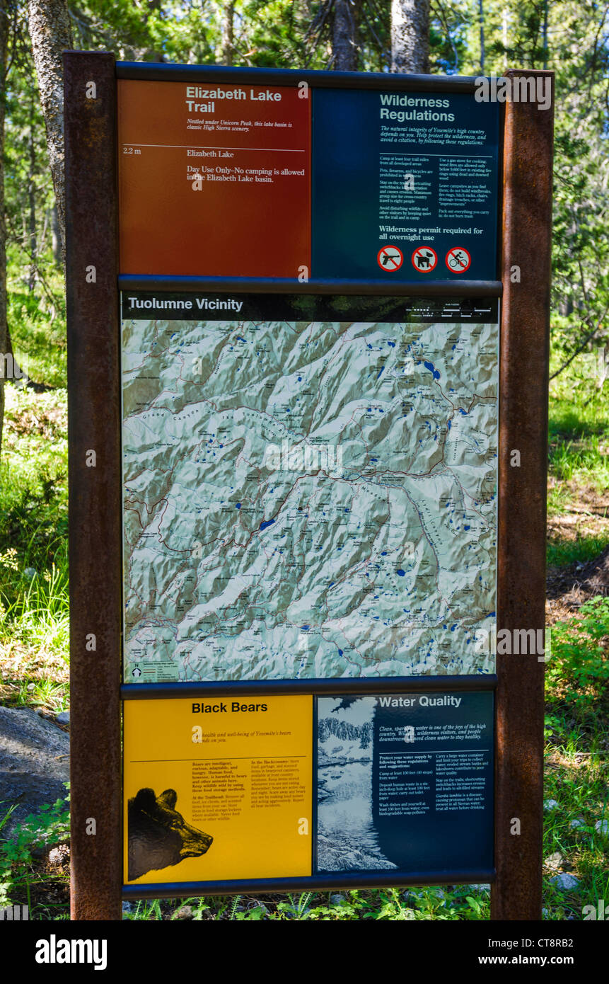 Cartina Yosemite National Park.Yosemite Map Immagini E Fotos Stock Alamy