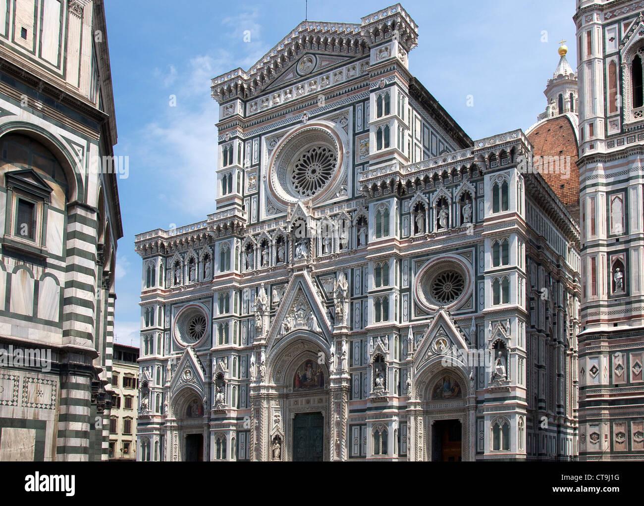 Neo Facciata Gotica Del Duomo Firenze Italia Foto Immagine Stock