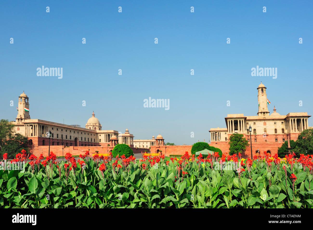Distretto di Parlamento, New Delhi, Delhi, India Immagini Stock