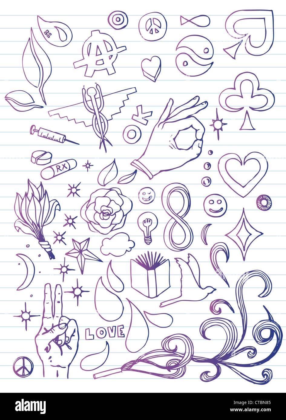 Carta di Doodle Immagini Stock