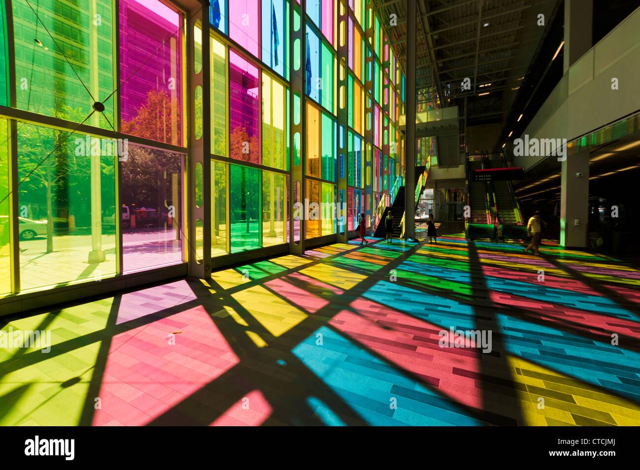 Convenzione di Montreal Centre (Palais des Congrès). Montreal, Quebec, Canada. Immagini Stock