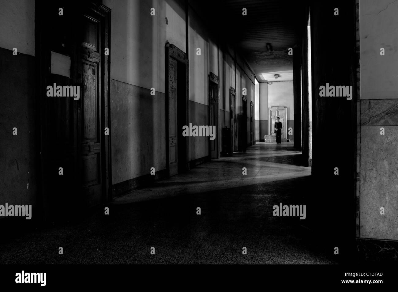 Corridoio scuro Immagini Stock