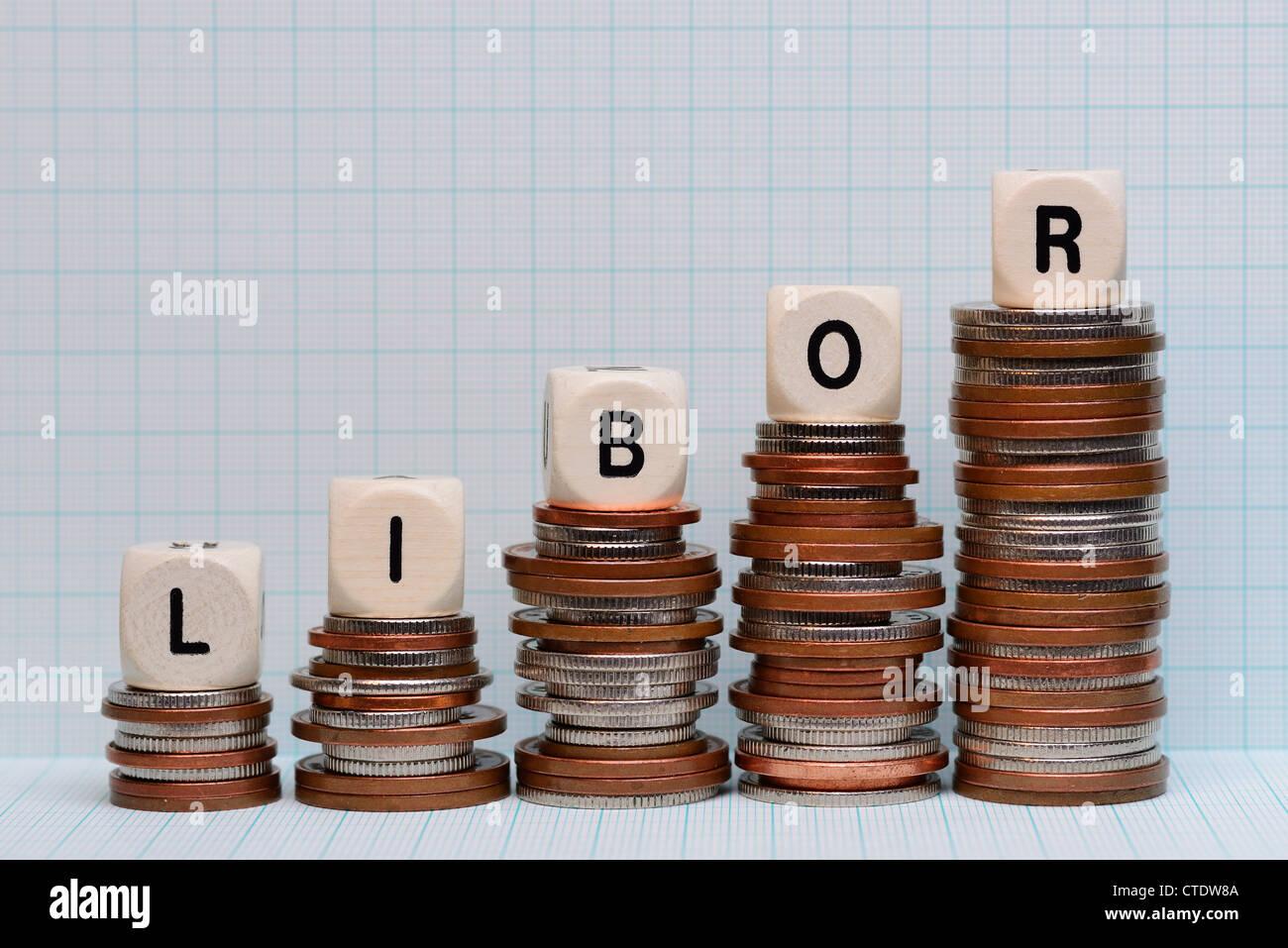 Libor concetto delle finanze Immagini Stock