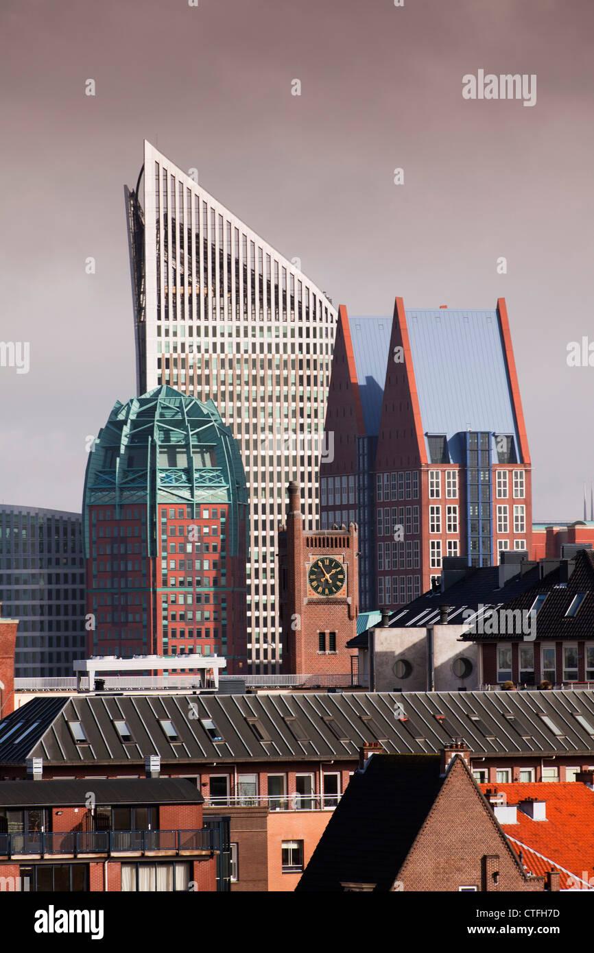 I Paesi Bassi, Den Haag (L'Aia), l'Aia, vista di architettura moderna a Den Haag (L'Aia). Principalmente Immagini Stock