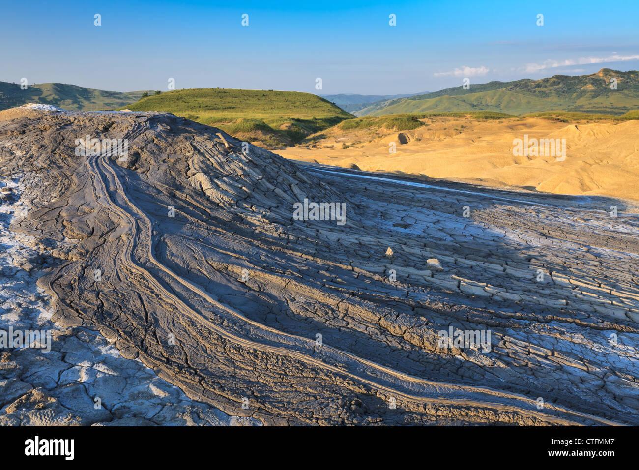 I vulcani di fango in Buzau, Romania Immagini Stock