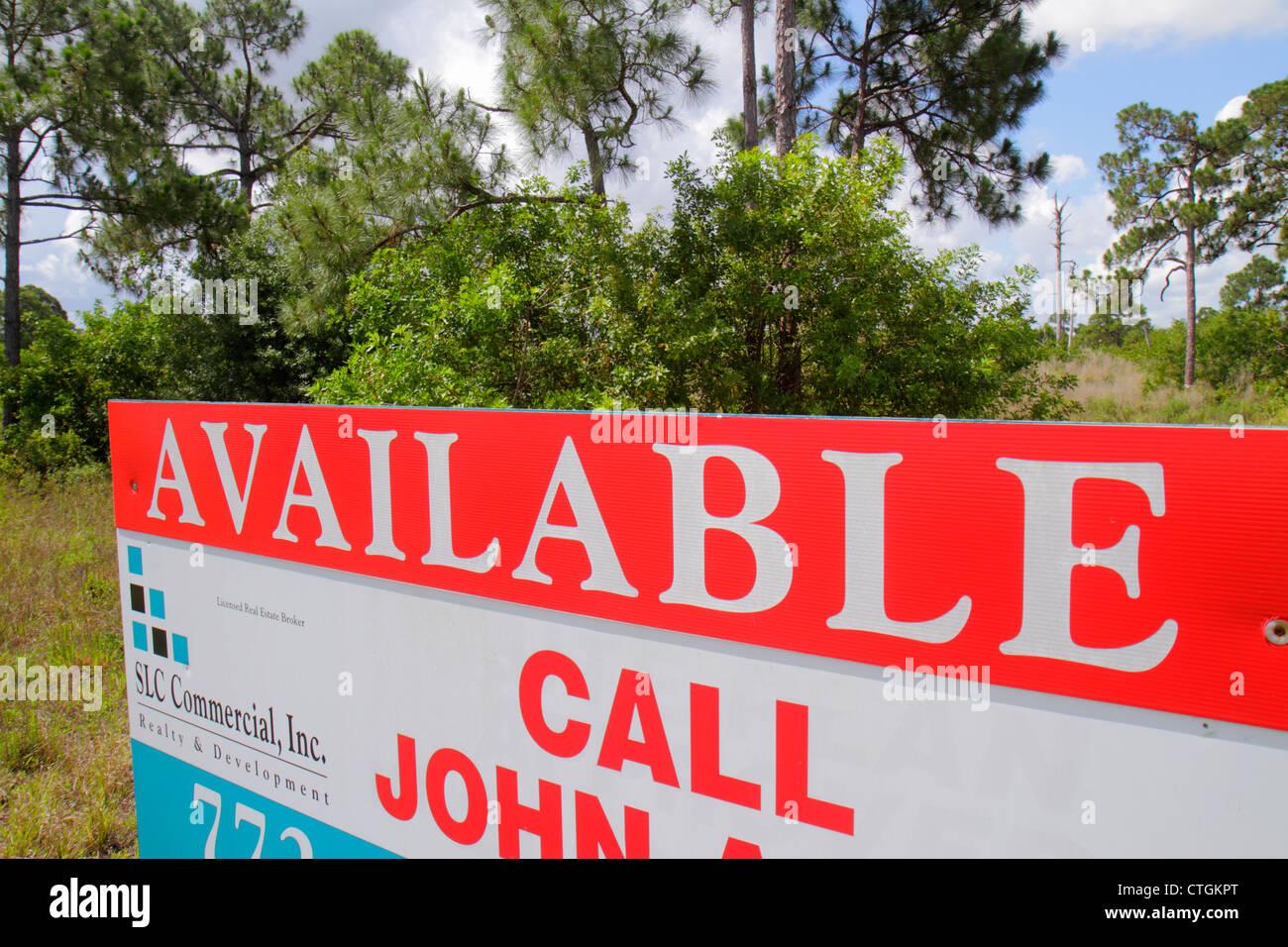 Port St. Lucie Florida Saint PGA Village segno terreni disponibili immobili in vendita Immagini Stock