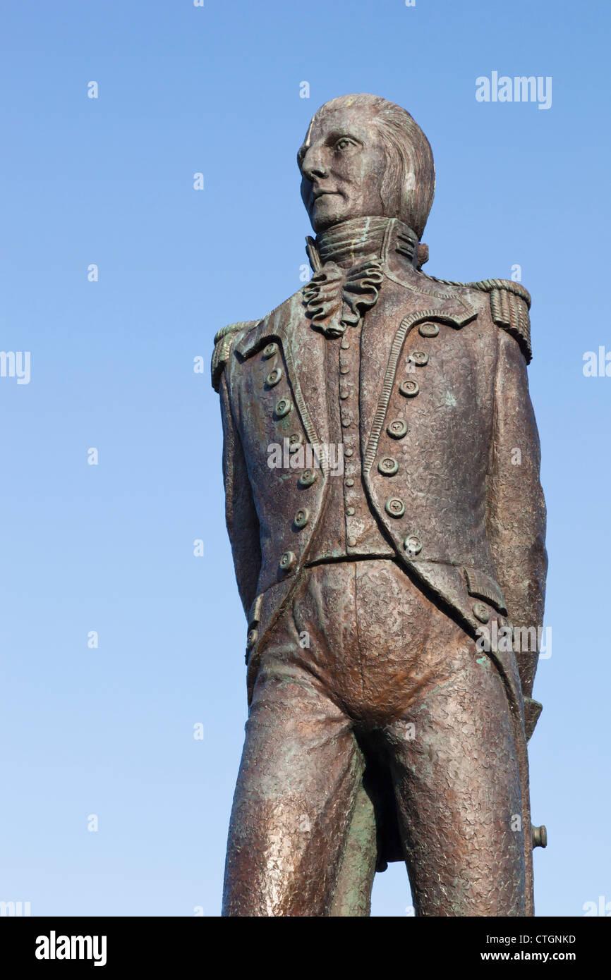 Bantry, West Cork, Irlanda. Statua di Theobald Wolfe Tone, 1763 - 1798, rivoluzionaria irlandese..... Immagini Stock