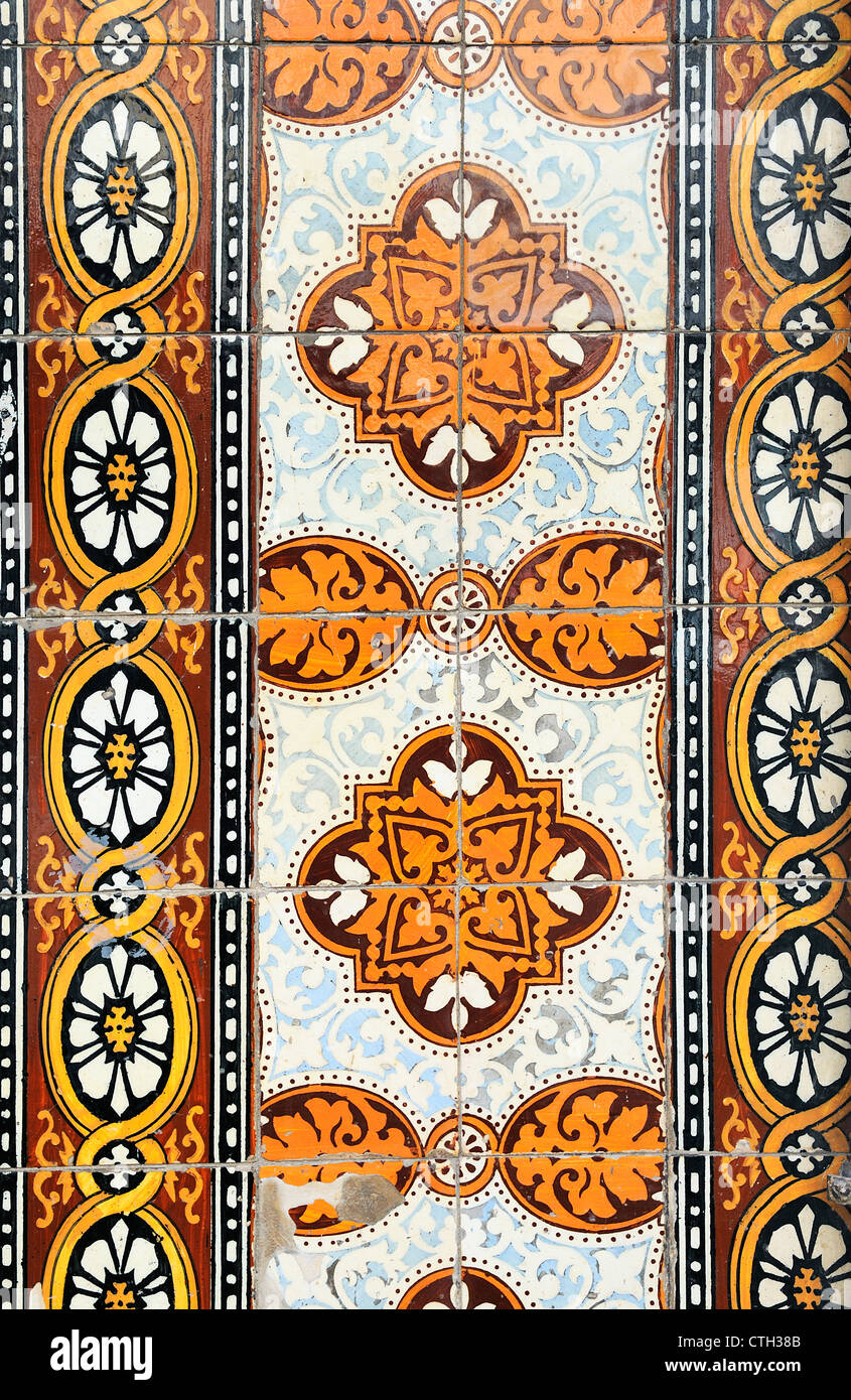 Senza saldatura tradizionale modello a mosaico per gli sfondi,copertura al di fuori degli edifici Immagini Stock