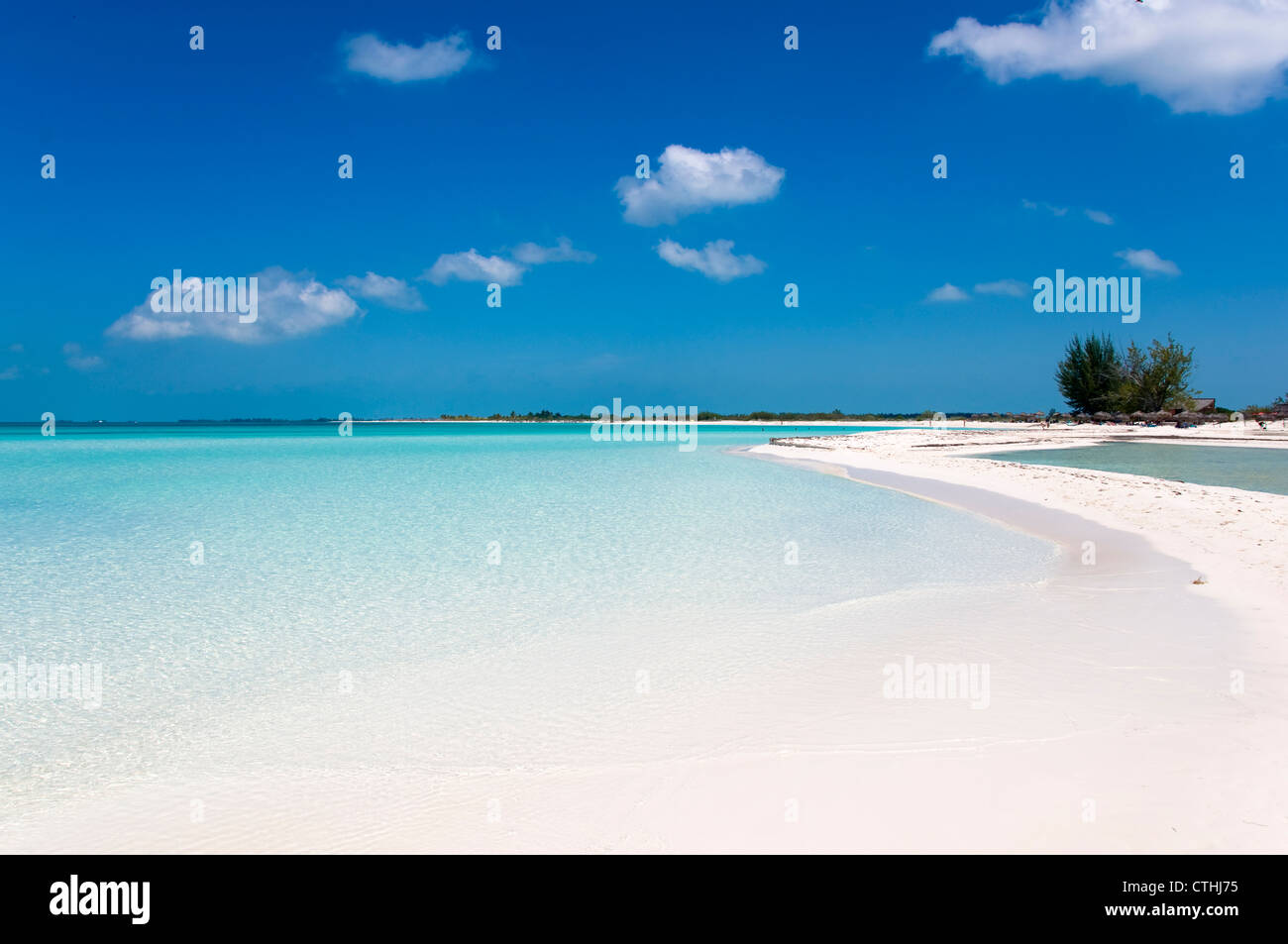 Paradise Beach, Cayo Largo del Sur, Cuba Immagini Stock