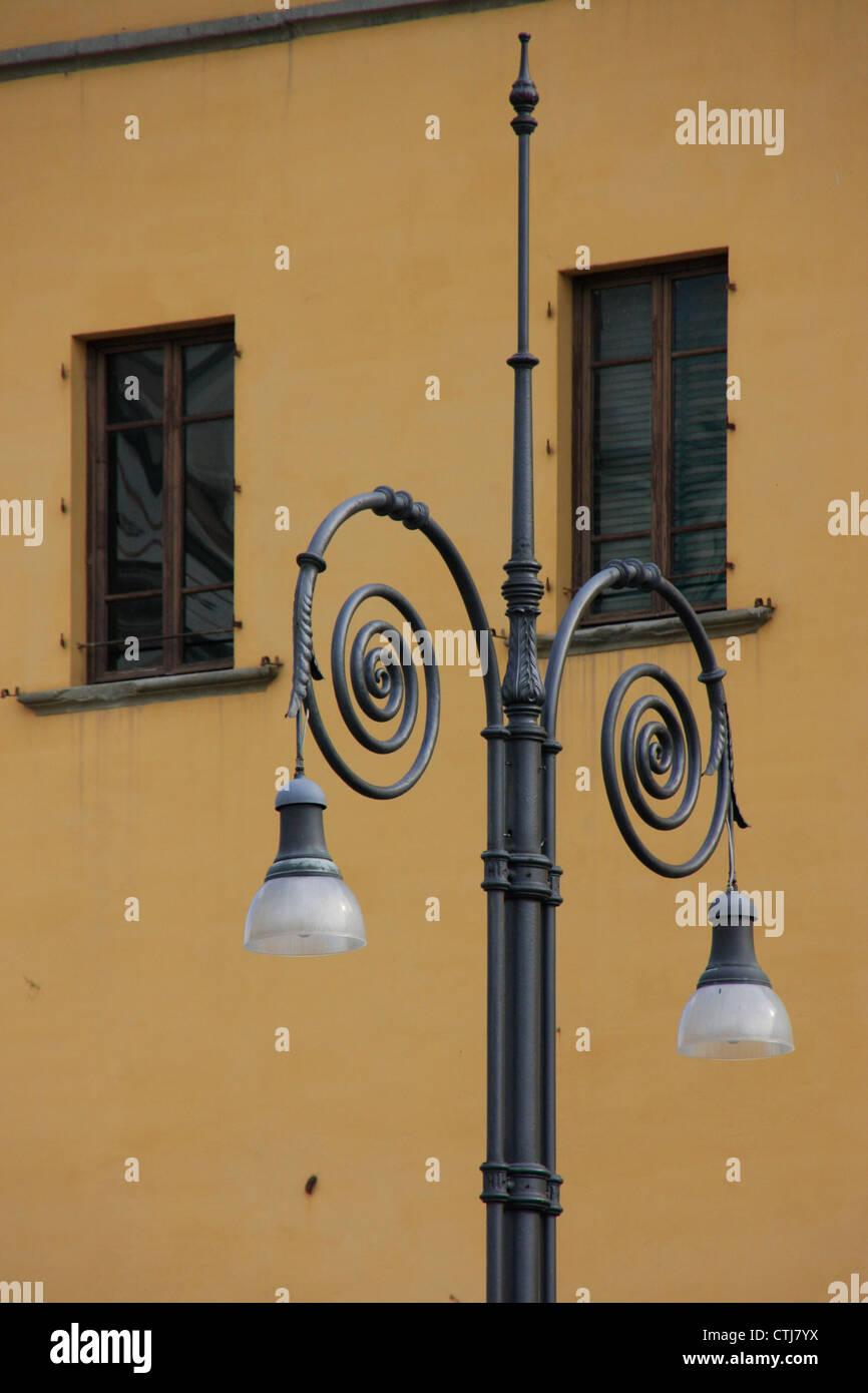 Dettaglio della luce di vorticazione post Foto Stock