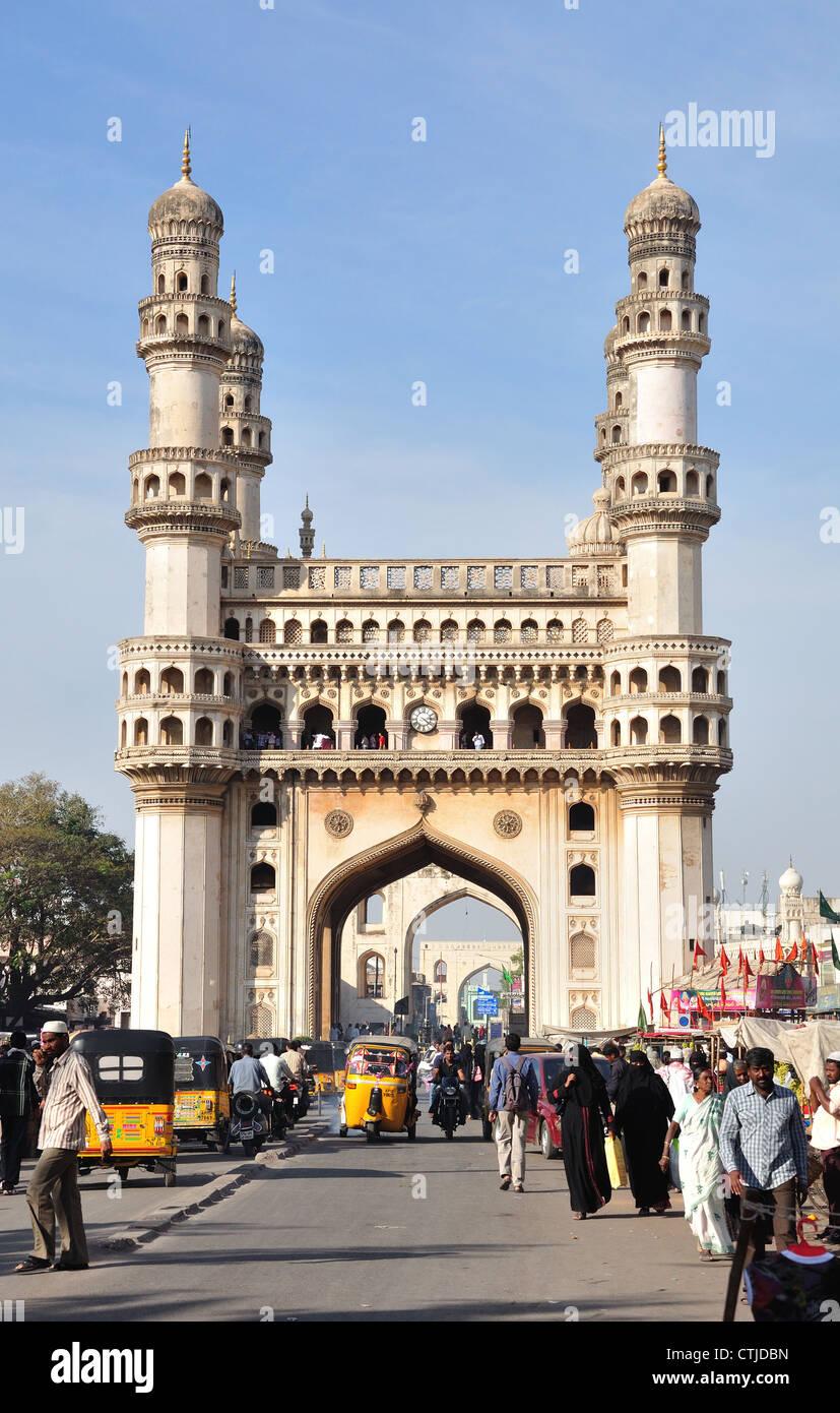 Charminar, l'icona globale di Hyderabad Immagini Stock