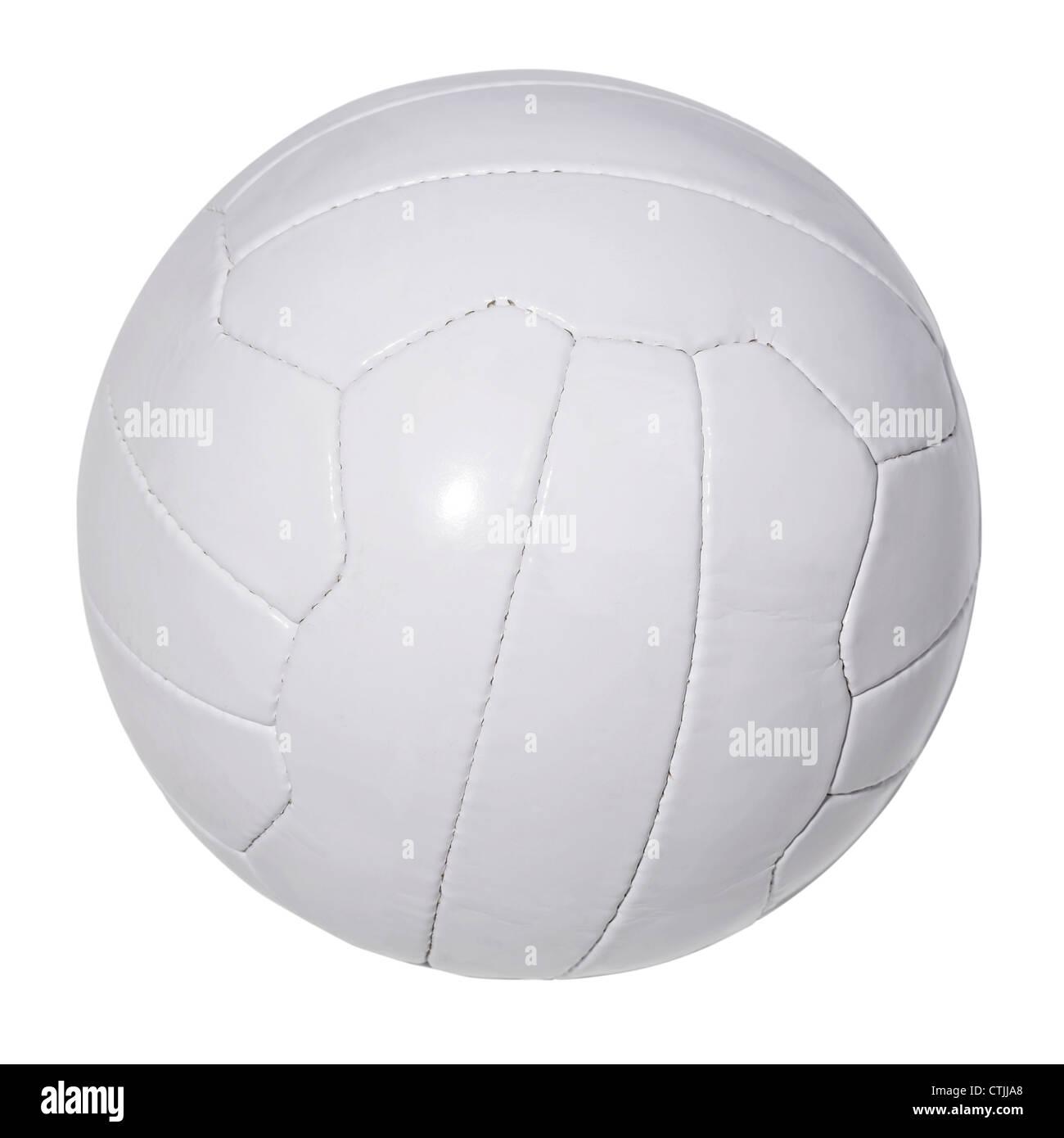 Bianco di calcio in pelle Immagini Stock