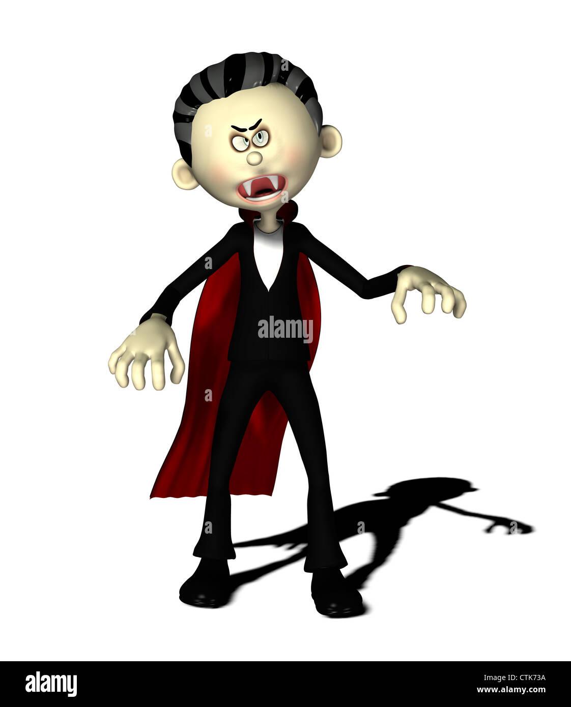 Figura del fumetto vampire Immagini Stock