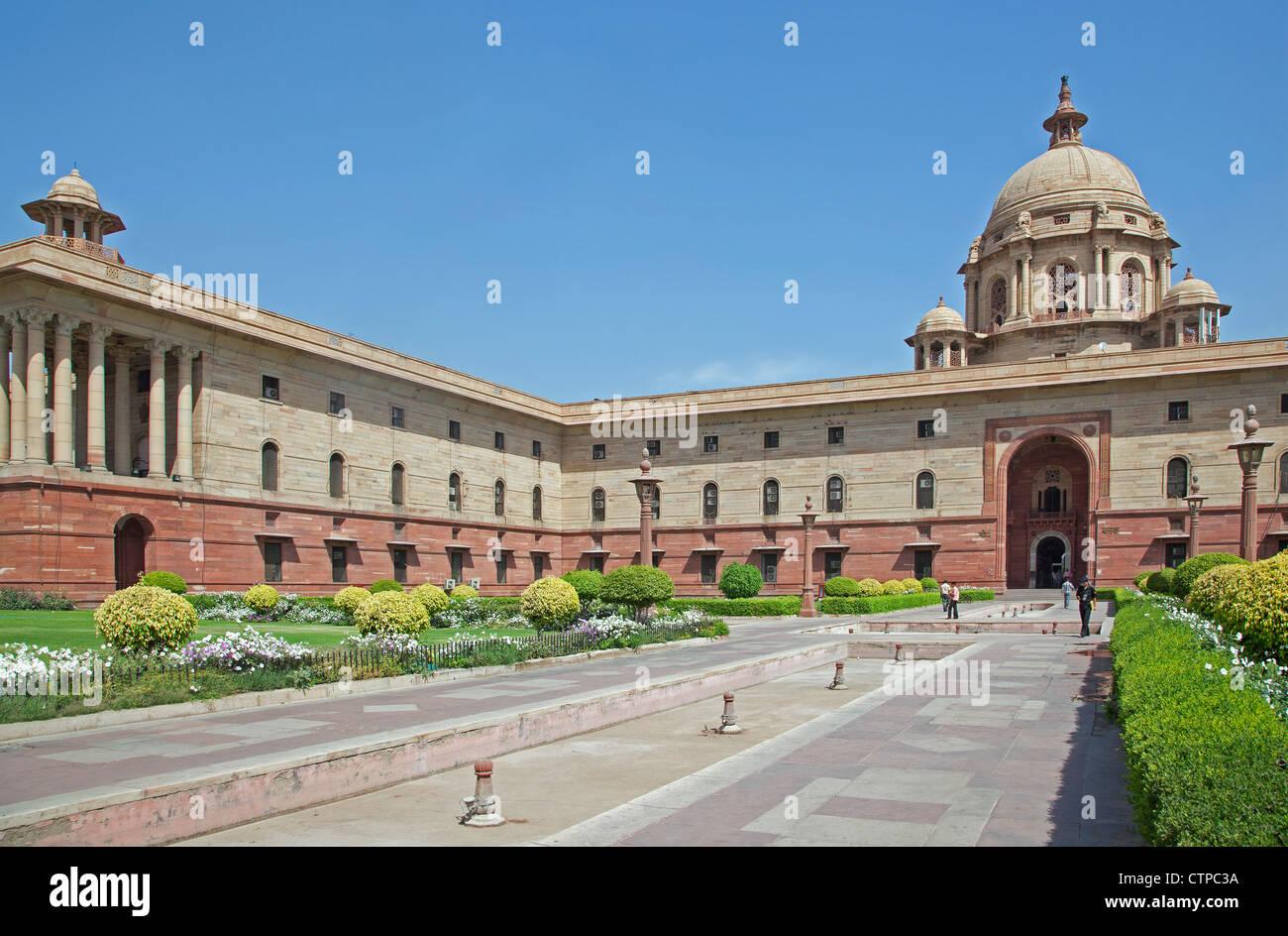 Rashtrapati Bhavan, residenza ufficiale del Presidente dell India a New Delhi Immagini Stock
