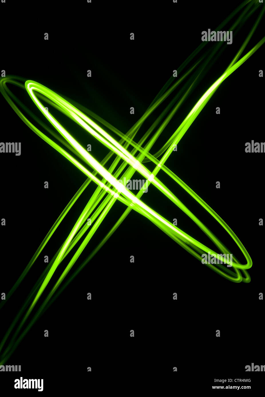 Un verde diagonale luce astratta physiogram Foto Stock