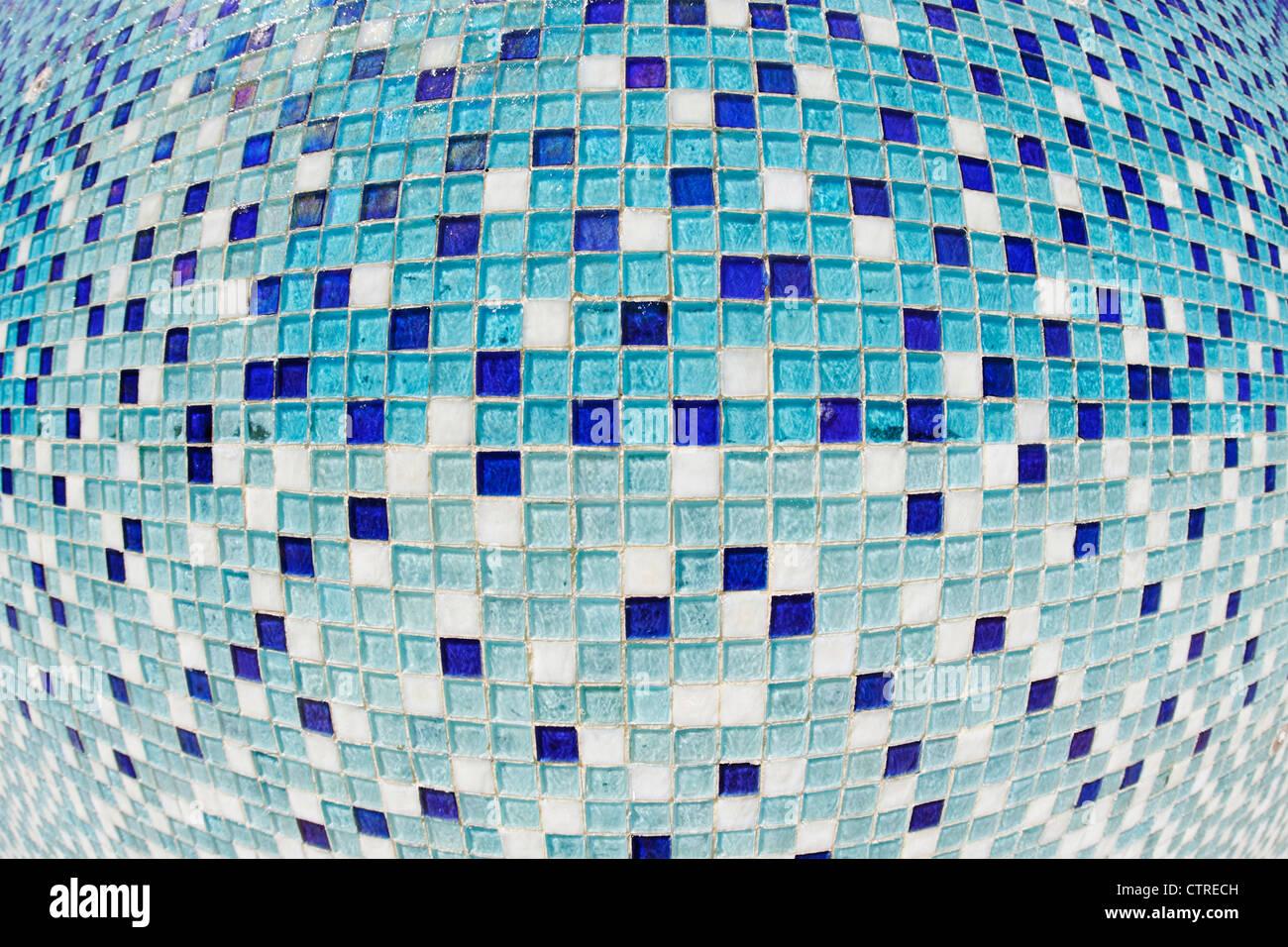 Mosaico sul Miami River Walk, Downtown Miami, Florida, Stati Uniti d'America Immagini Stock