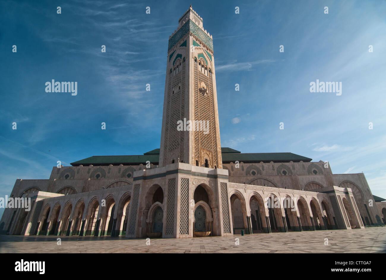 La straordinaria Moschea di Hassan II a Casablanca, Marocco Immagini Stock