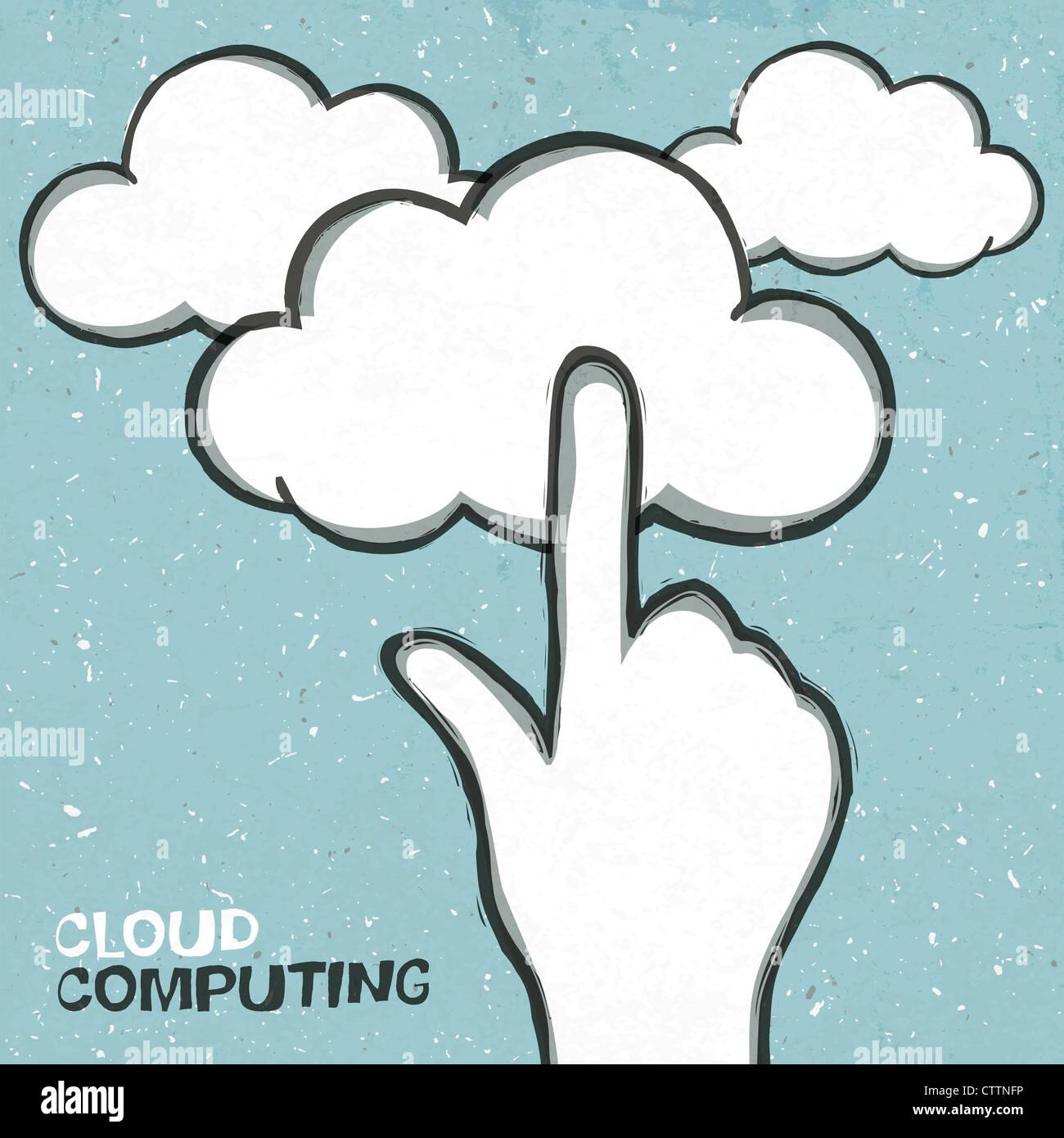 Il cloud computing concetto illustrazione Immagini Stock