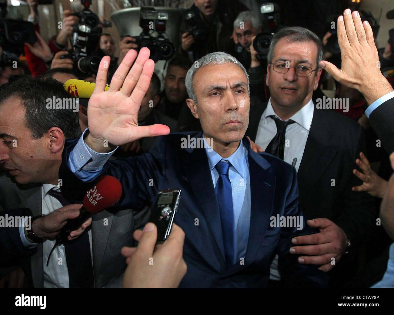 Mehmet Ali Ağca assassino di Abdi İpekçi rilasciato dal carcere nel 2010 Immagini Stock