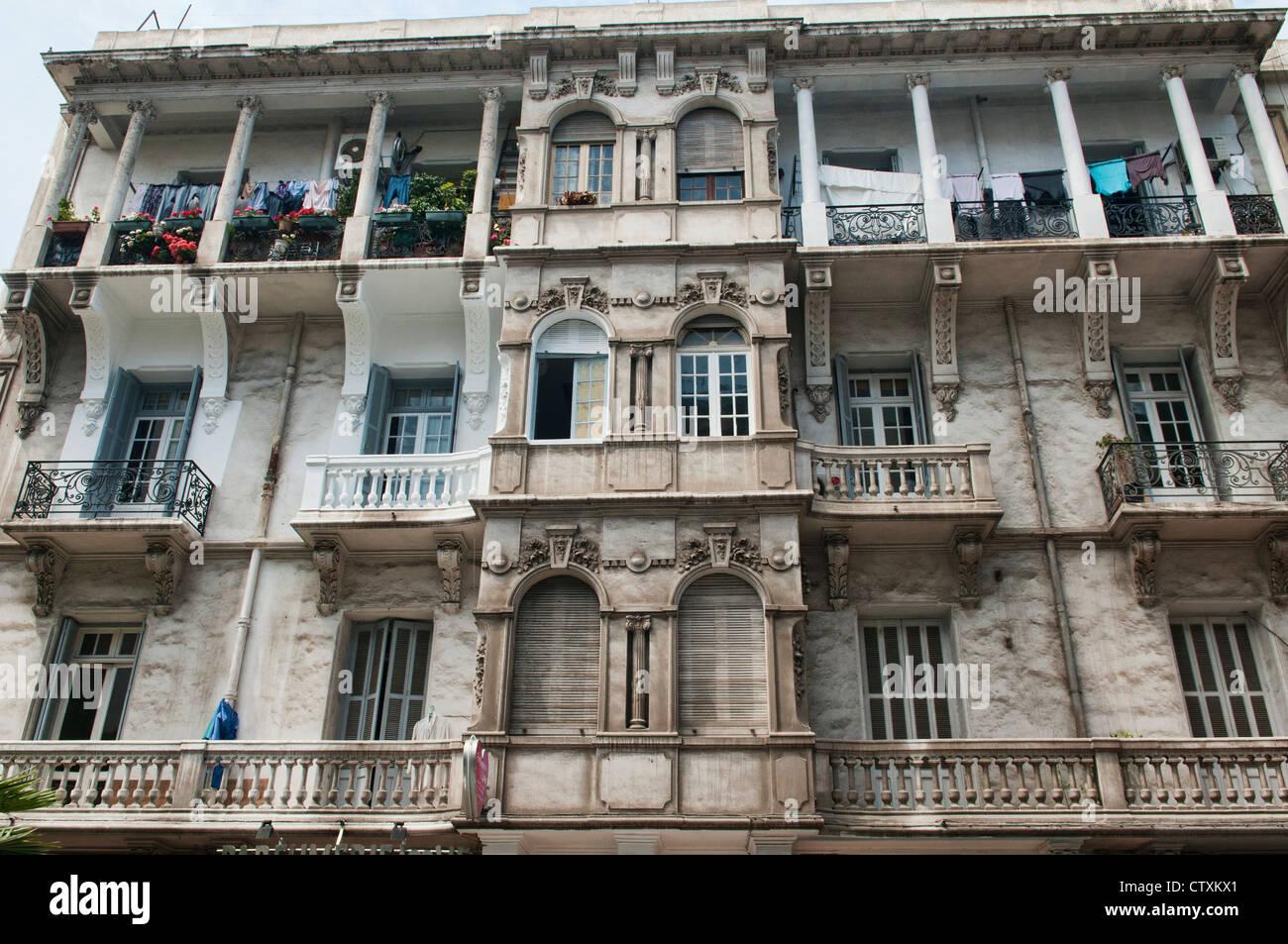 Architettura art deco in Casablanca, Marocco Immagini Stock