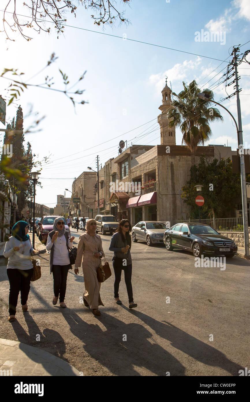 Rainbow street Amman Giordania Immagini Stock