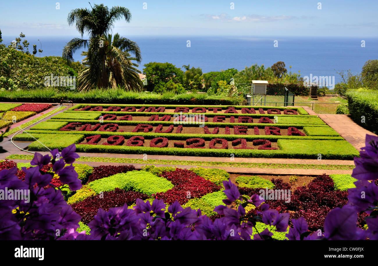 Portogallo - Madeira - Botanica Gnds - schema di impianto celebra 52 anni di giardini esistenza - incorniciato da Immagini Stock