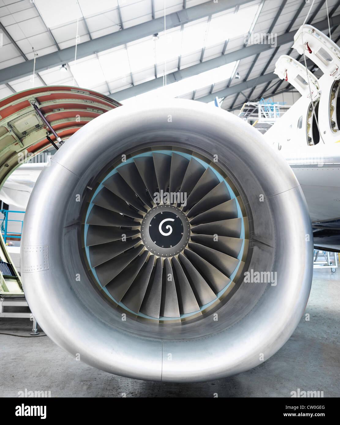 Close up ancora aereo jet motore Immagini Stock